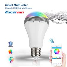 wireless bluetooth control music audio speaker led rgb smart bulb