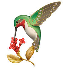 2016 dazzling hummingbird hallmark keepsake miniature ornament