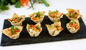 easy vegetarian canapes vegetarian wonton bites an easy appetizer idea the domestic