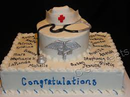 nurse graduation with stethoscope nurse cap and rn emblem