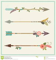 beautiful native american arrows feathers and floral decoration