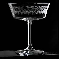 vintage martini glasses retro fizzio 1910 coupe glass champagne saucer urban bar