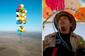 Seeking Balloon Episode Thrill Seeking Lad Attached 100 Helium Balloons To A Cing Chair