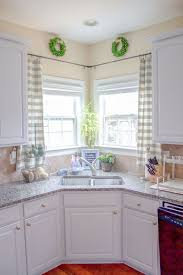 marvellous kitchen curtains over sink grey plaid pattern curtains