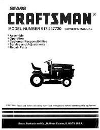 sears lawn mower 917 257720 user guide manualsonline com