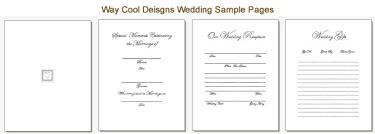 photo book pages monogrammed wedding album made keepsake wedding book custom