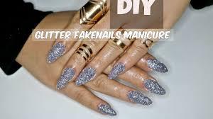 nye diy glitter nails at home 100daysofyoutube day 3 youtube