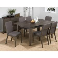 jofran antique gray ash rectangle butterfly leaf dining table set