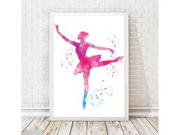 Ballerina Nursery Decor Watercolor Print Ballet Dancer Watercolor Ballerina