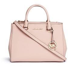 light pink michael kors handbag michael kors sutton medium saffiano leather satchel found on