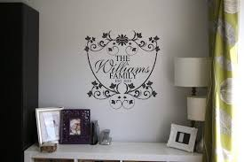 personalised family name wall art decal wall decals personalised family name wall art decal