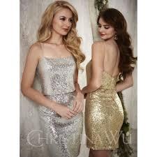 silver sequin bridesmaid dresses aliexpress buy 2016 silver gold sequins bridesmaid