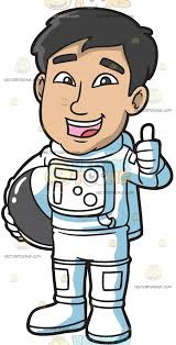 astronaut costume a in an astronaut costume clipart vector