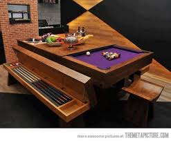 Awesome Pool Table Design Pool Table Men Cave And House - Pool table disguised dining room table