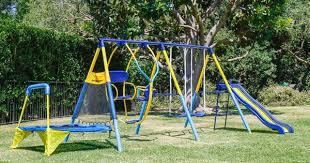 Flexible Flyer Backyard Swingin Fun Metal Swing Set Sportspower Ridgewood Me And My Toddler Metal Swing Set Juguetes