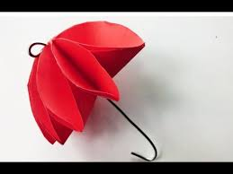 How To Make Paper Umbrellas - how to make paper umbrella easily that s open and origami