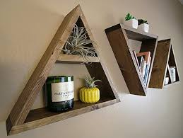 Triangle Shaped Bookcase Amazon Com Wood Triangle Shelf Custom Color Crystal Display