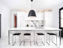 decorating ideas modern light grey cabinetry and bold marble