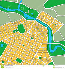 Generic Mapping Tools Map Of Generic Urban City Stock Photo Image 23225000