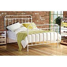 mandy double metal bed frame cream hospital victorian style small