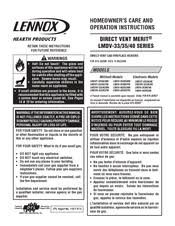 Lennox Gas Fireplace Manual by Lennox Hearth Products Lmdv 4035 Cnm Manuals