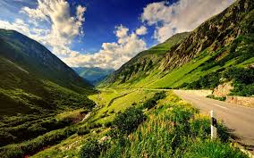 mountains serenity slopes summer nature pretty mountain clouds
