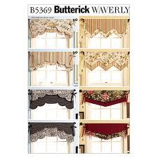 butterick fast u0026 easy reversible valances pattern b5369 size osz