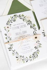 wedding invitations greenery trending for 2017 greenery wedding invitations from elli