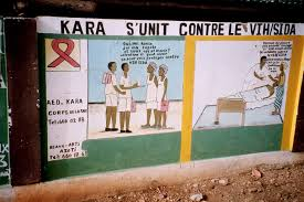 aids wall murals in kara the dialogue is in french as togo people usually speak one of several native languages plus french these murals are all sponsored by the city of kara unit