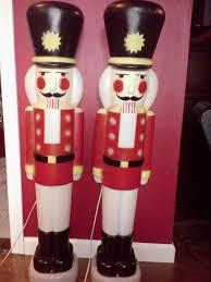 lighted plastic christmas yard decorations 2 vintage empire plastic christmas blow mold nutcrackers light up