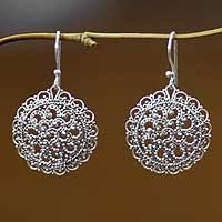 filigree earrings sterling silver filigree earrings from bali and java at novica