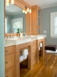 Vanity Ideas For Bathrooms Brown Wooden Open Shelf Vanity With White Storage And White Sink