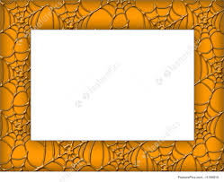 halloween party borders tangled spider web silhouette scenic halloween door and window