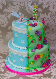 tinkerbell party ideas tinkerbell and periwinkle cake taarten