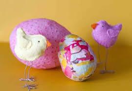 styrofoam easter eggs instead of dyeing easter eggs try decoupage