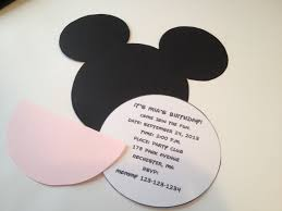 Mickey Mouse Invitation Card Diy Minnie Mouse Invitation With Real Bow Free Minnie Ears