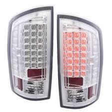 2003 dodge ram tail lights dodge ram 2500 2003 2005 chrome headlights and led tail lights