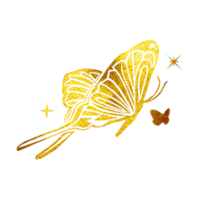 temporary butterfly 24k yellow gold