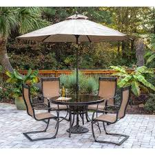 Patio Table Grommet Patio Sets With Umbrella Or Medium Size Of Furniture Sets