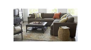 Sofa Table Crate And Barrel Lounge Ii Petite 3 Piece Sectional Sofa Crate And Barrel