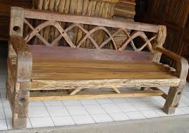 Rustic Bench Seat Rustic Teak Provincial Teak U0026 Teak Root Furniture From Thailand