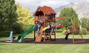 backyard discovery slide backyard discovery cedar outdoor playsets
