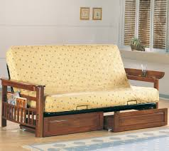 futon oak wood futon day bed frame wooden drawers daybed