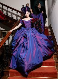 Purple Wedding Dress Dita Von Teese U0027s Wedding Dress Rebelcircus Com