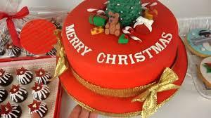 Christmas Cake Decorations Jane Asher by Fondant Christmas Cake Cookies U0026 Chocolate Youtube