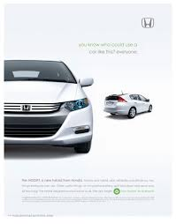 american honda motor co inc ad campaign for the launch of the all new honda insight celebrates