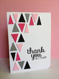 choose colors for the triangles on this handmade thank you