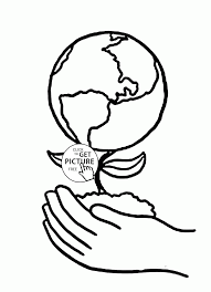 earth plant on hands earth day coloring page for kids coloring