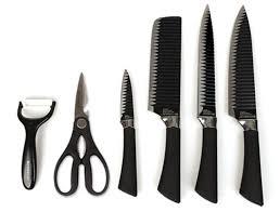 kitchen knive sets everrich black kitchen knife set of 6 sharp knives scissors non
