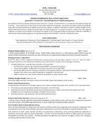 Commercial Real Estate Resume Erik Dowling U0027s Resume